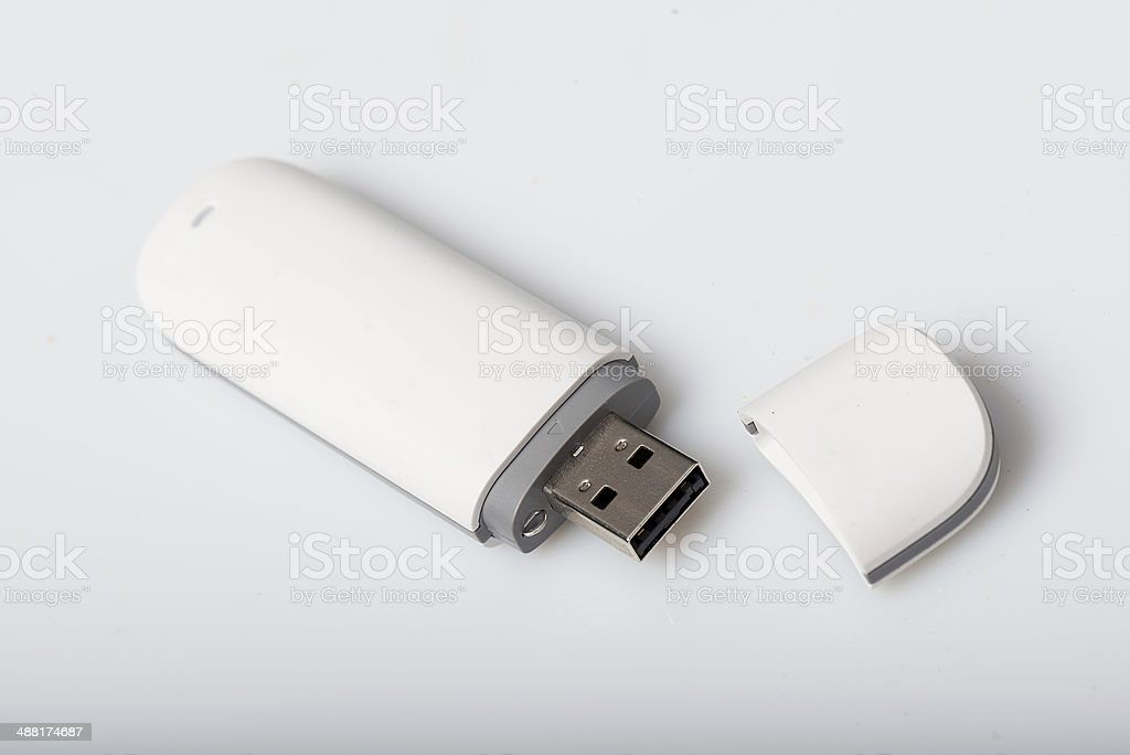 USB dongle or adapter stock photo