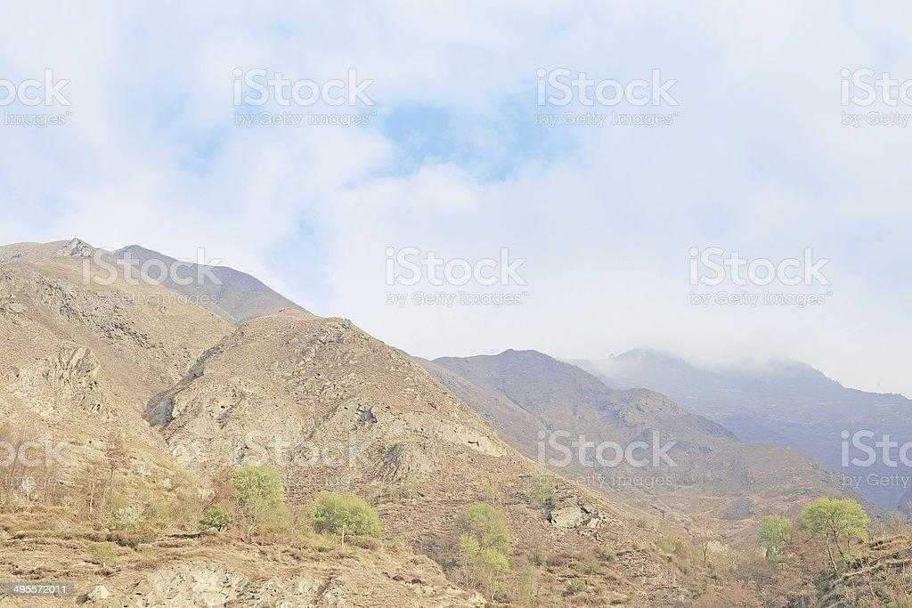 dongyuan mountain in lixian,china stock photo