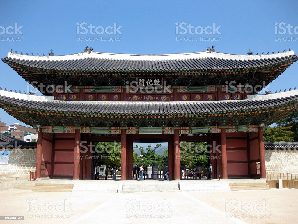 Donhwamun Gate - Changdeokgung Palace, Seoul stock photo