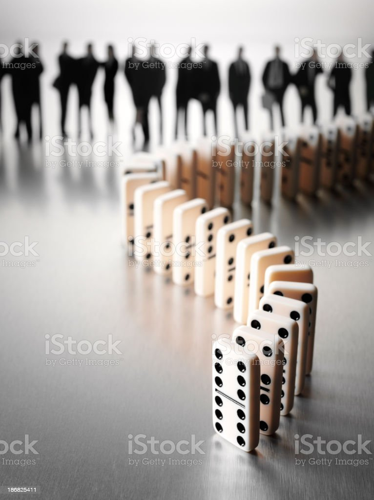 Donimo Effect with a Business Team stock photo