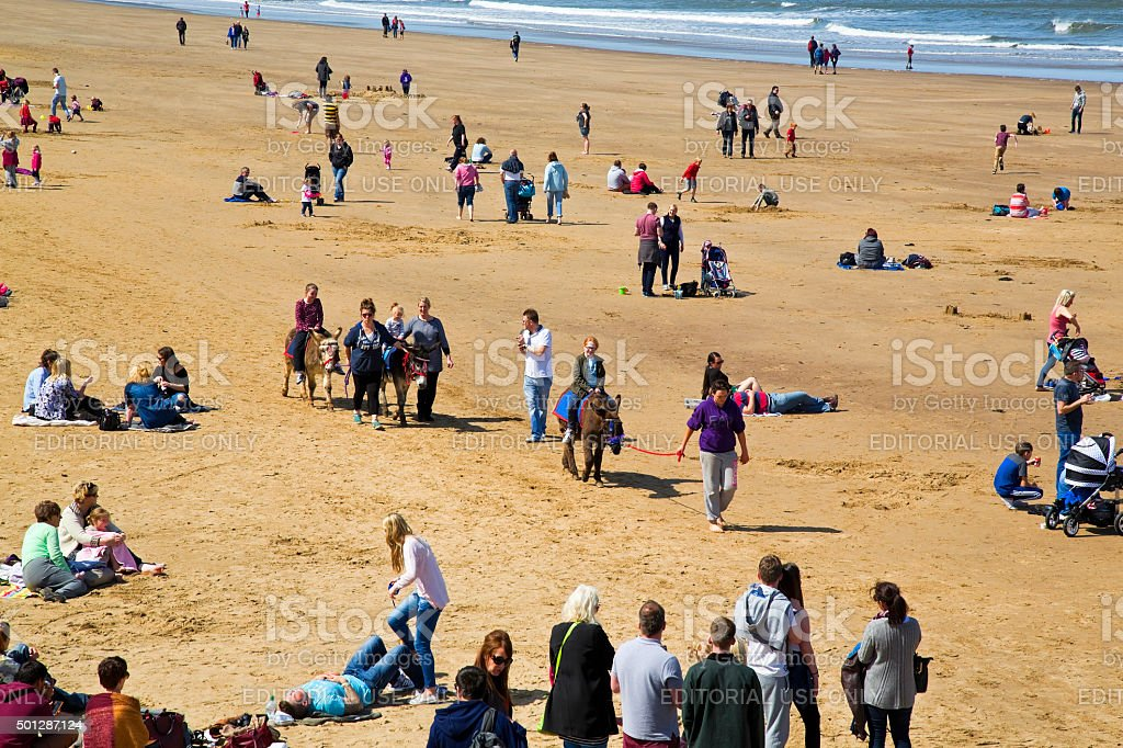 Donkey rides on beach at Whitby 'Editorial' royalty-free stock photo