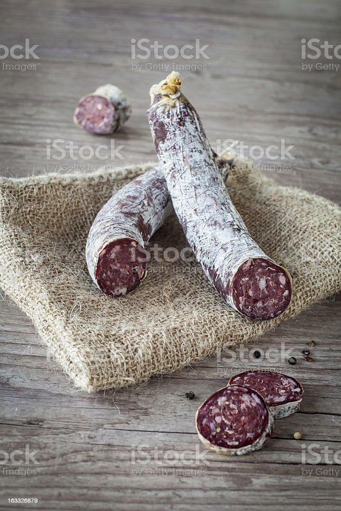 Donkey salami stock photo