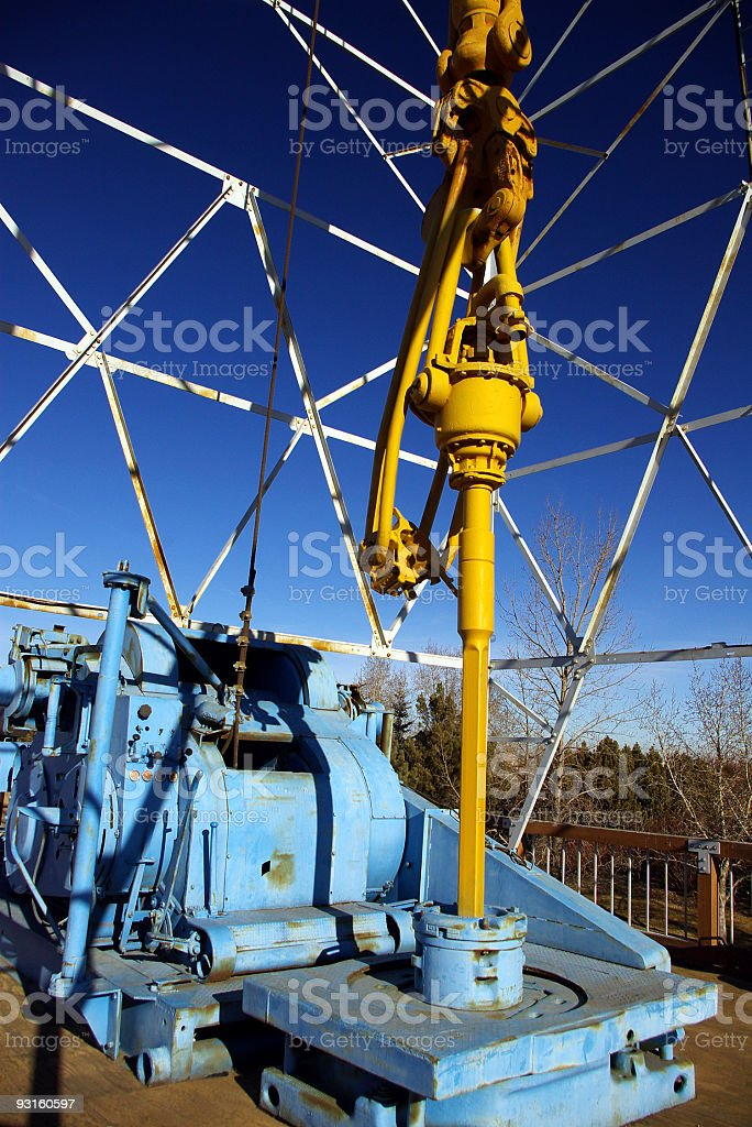Donkey, table and downhaul stock photo