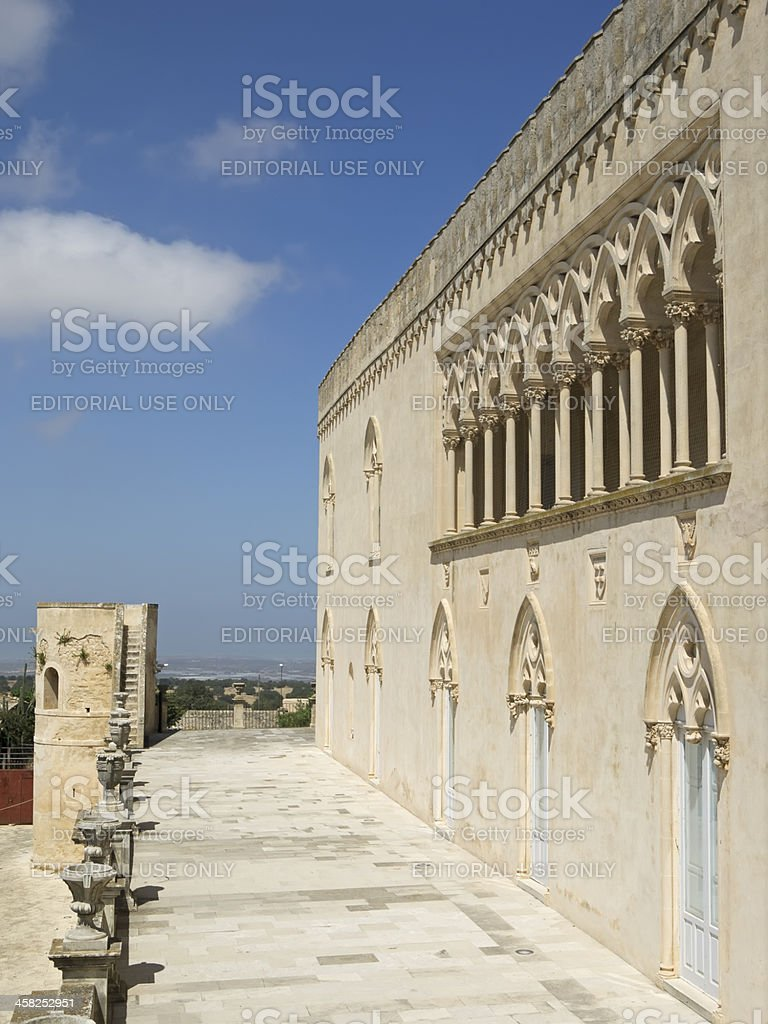 Donnafugata castle balcony royalty-free stock photo
