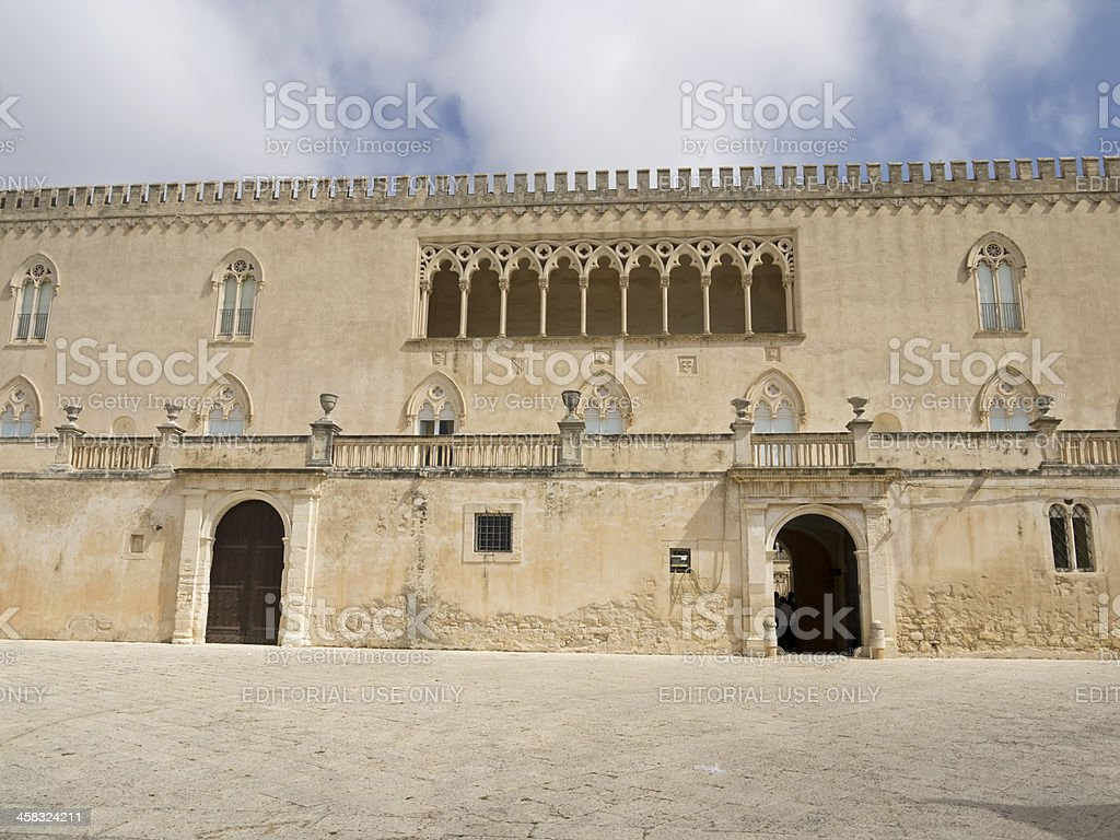 Donnafugata castle front view royalty-free stock photo