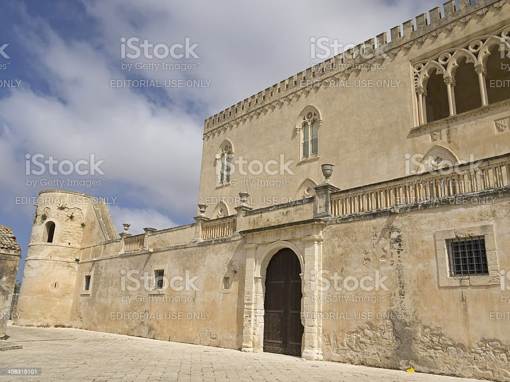 Donnafugata castle lateral view royalty-free stock photo