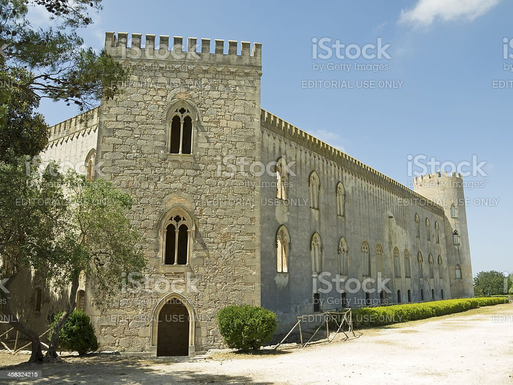 Donnafugata castle rear view royalty-free stock photo