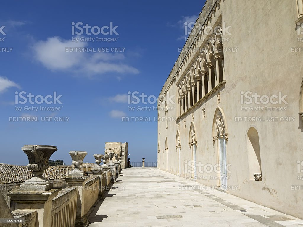 Donnafugata castle upper level royalty-free stock photo