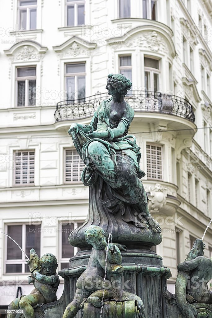 Donner Fountain, Vienna Austria royalty-free stock photo