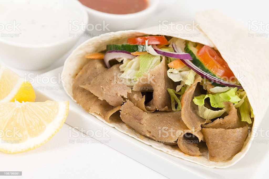Donner Kebab Wrap / Gyro royalty-free stock photo