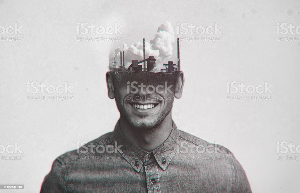 Don't allow anyone to pollute your mind stock photo