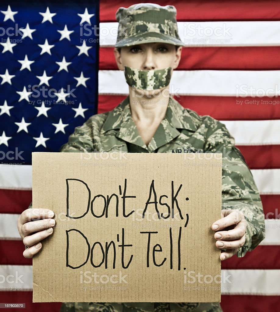 Don't Ask Gay Rights in the Military royalty-free stock photo