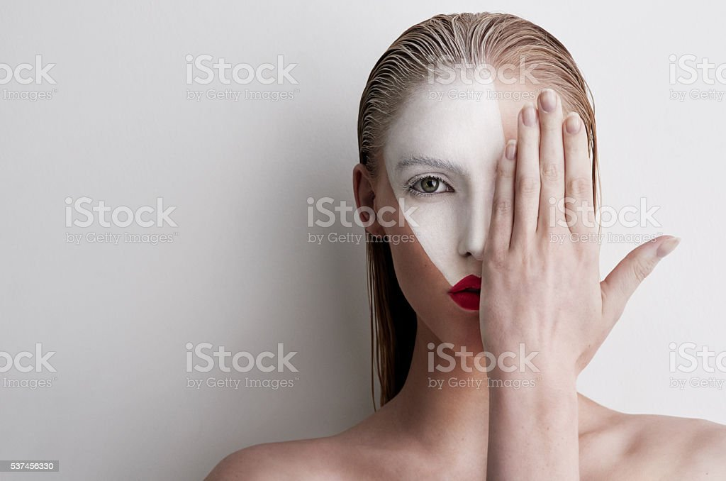 Don't be afraid to show yourself stock photo