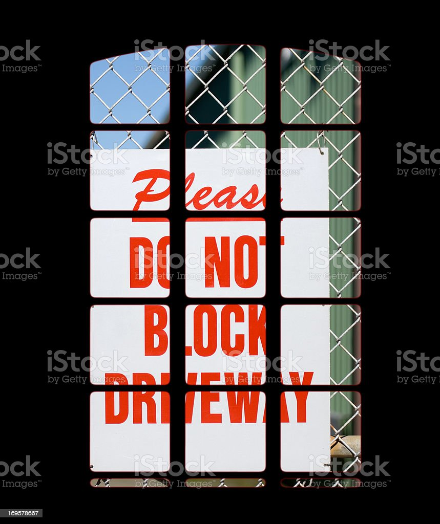 Don't block it! royalty-free stock photo