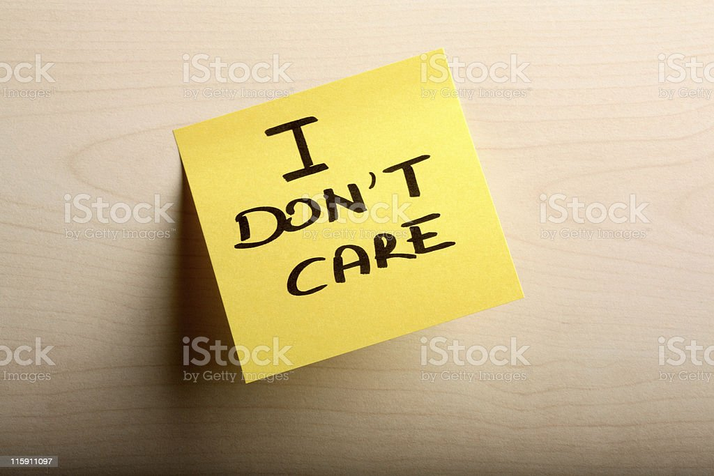 Don't care royalty-free stock photo