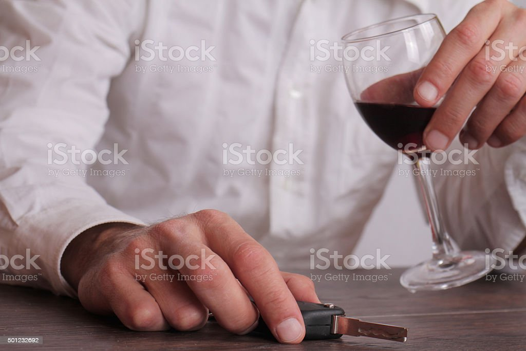 Don't drink and drive concept. stock photo