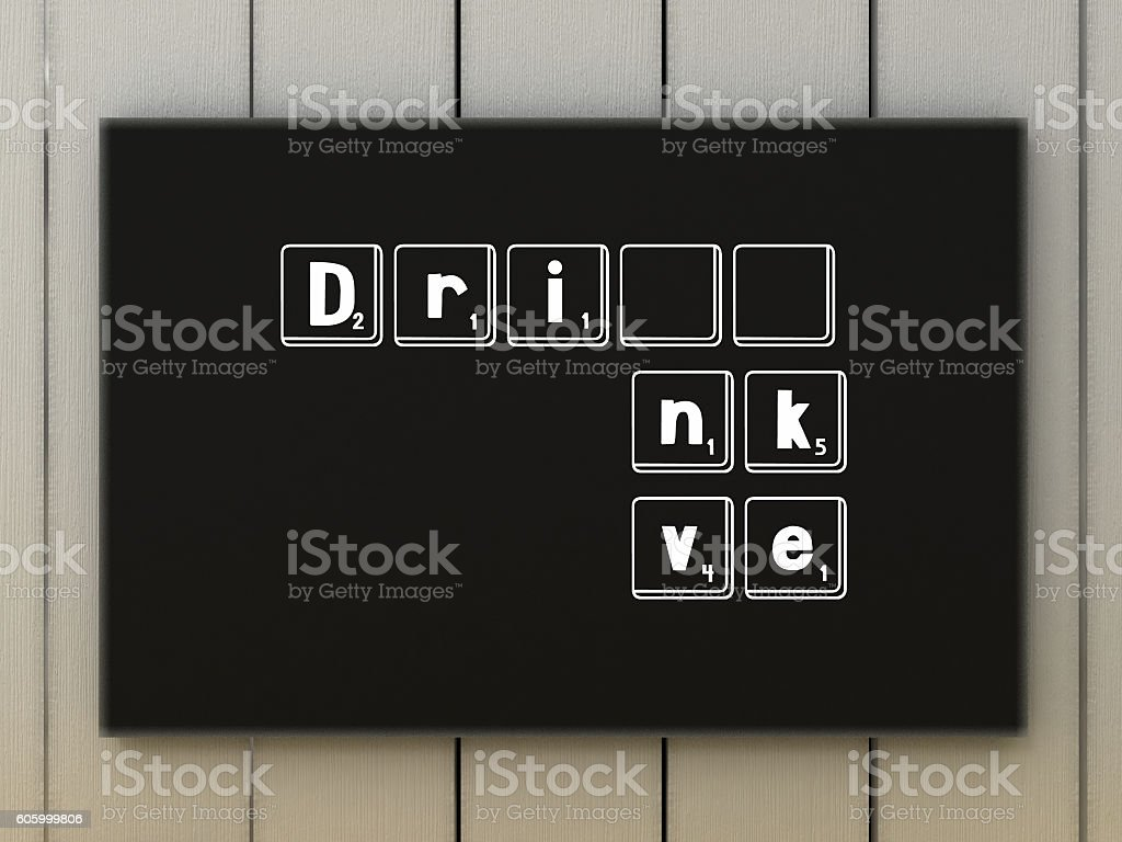 Don't drink and drive concept. Responsibly and safety driving stock photo