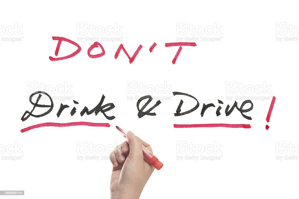 Don't drink and drive royalty-free stock photo