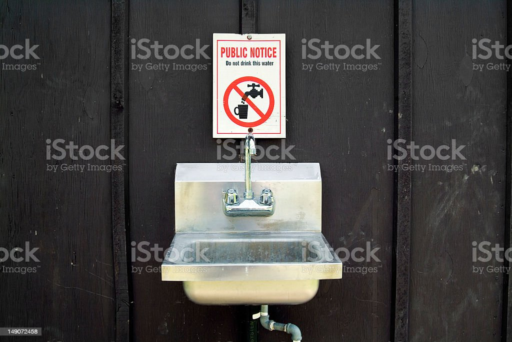 Don't Drink The Water royalty-free stock photo