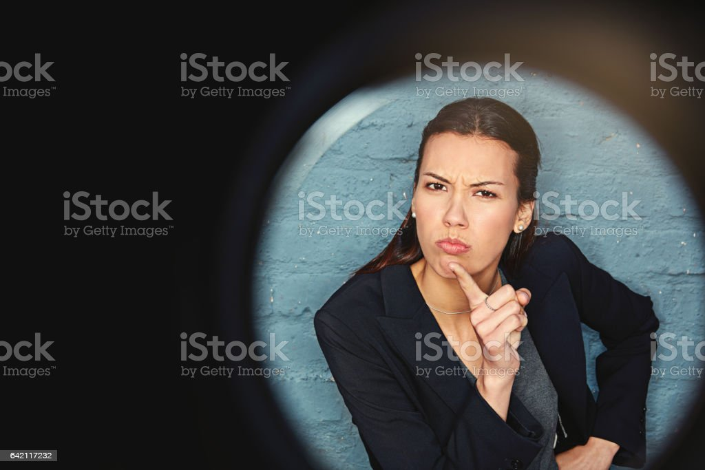 Don't even think of crossing me stock photo