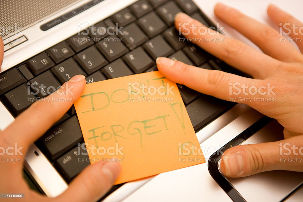 Don't Forget Sticky royalty-free stock photo