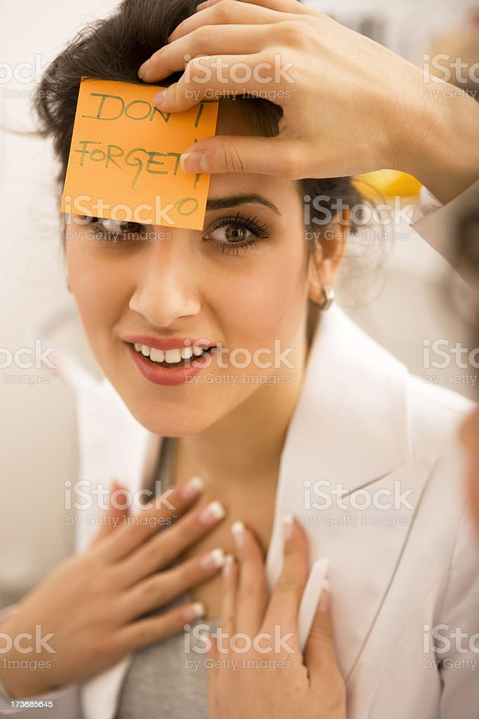 Don't Forget Sticky XXL royalty-free stock photo