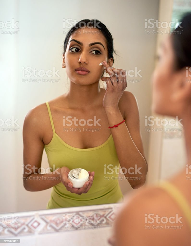 Don't forget to moisturise to hydrate and revive your skin stock photo