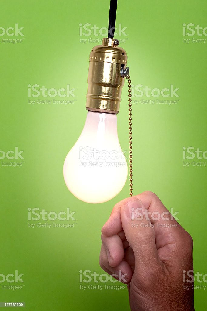 Don't forget to turn the light off! stock photo