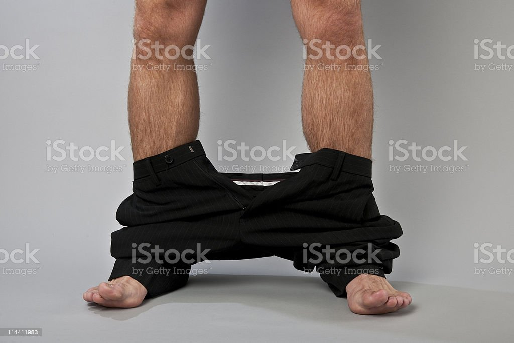 don't get caught with your pants down royalty-free stock photo