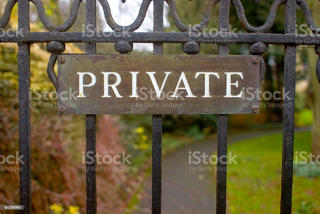 Don't go any further royalty-free stock photo