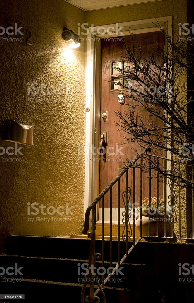 don't go out at night stock photo