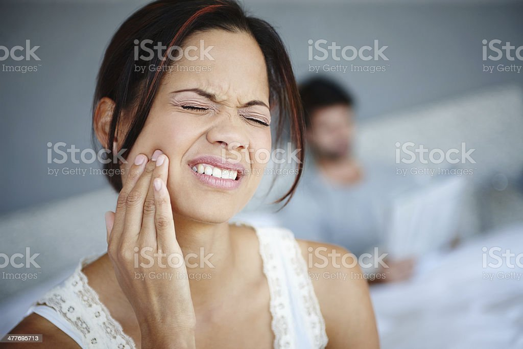 Don't ignore the pain! stock photo