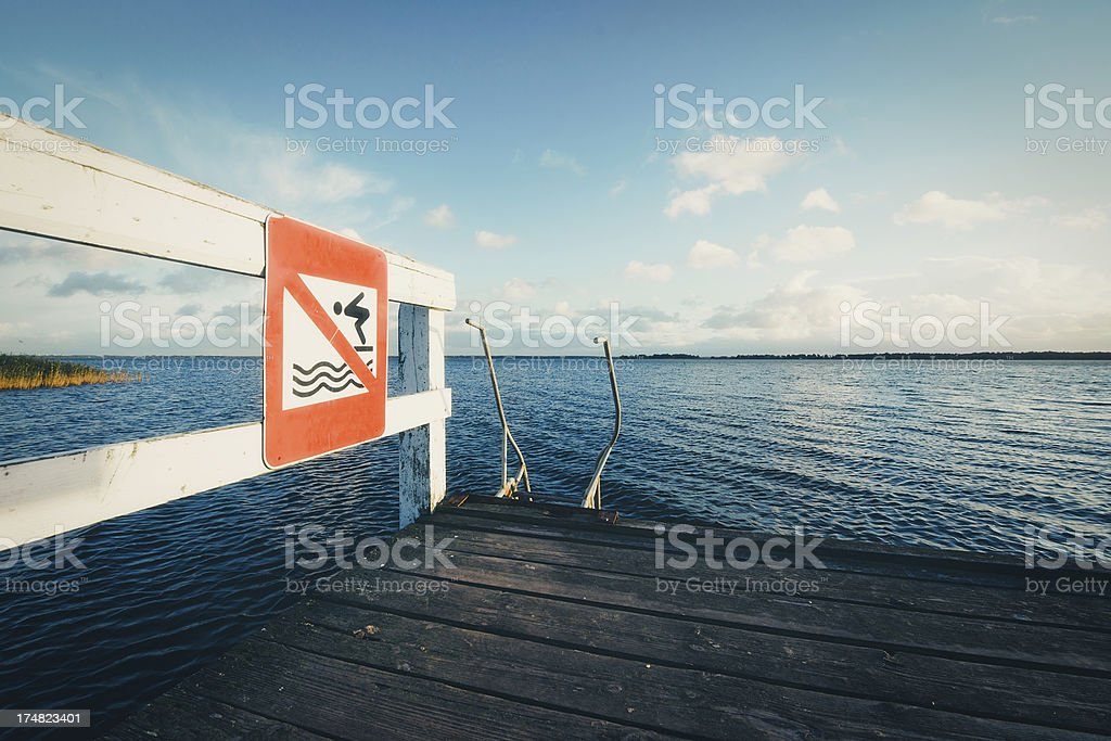 Don't jump royalty-free stock photo
