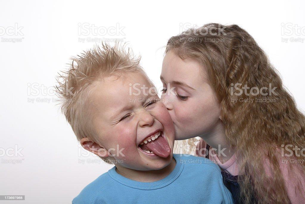Don't kiss me royalty-free stock photo