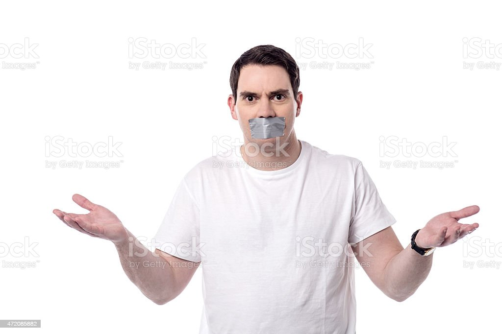 I don't know anything ? stock photo