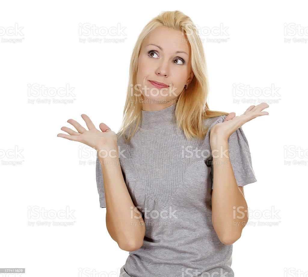I don't know royalty-free stock photo