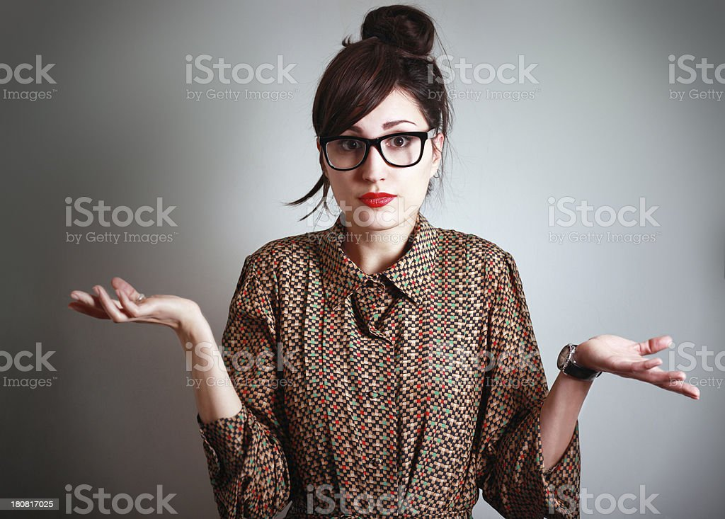 I don't know? stock photo
