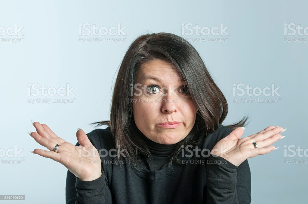 I don't know stock photo