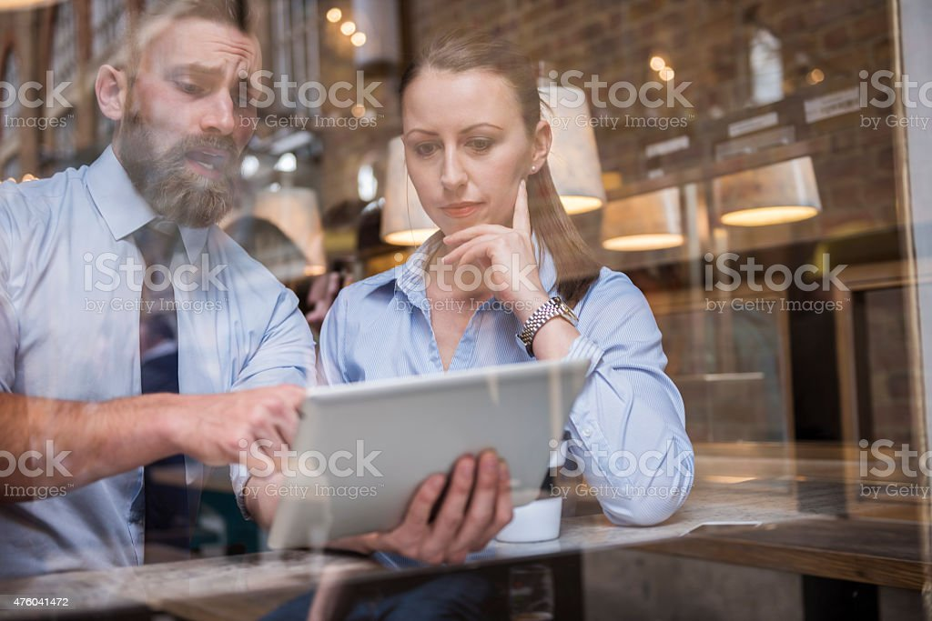 I don't know way but our results are falling down stock photo