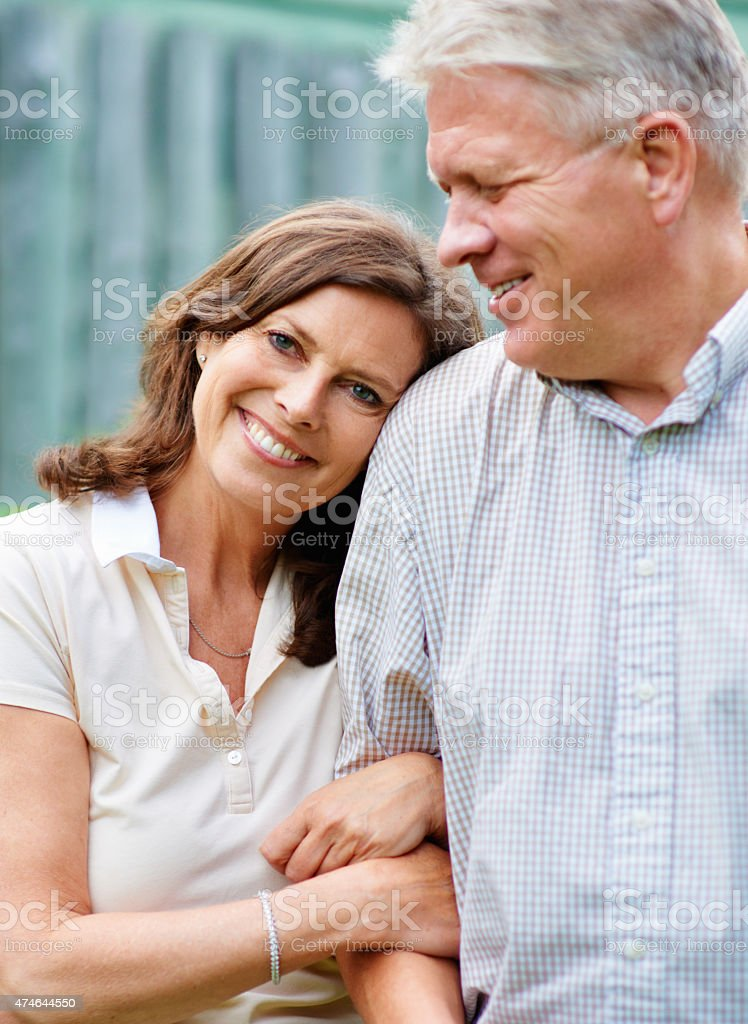 I don't know what I'd do without him! stock photo