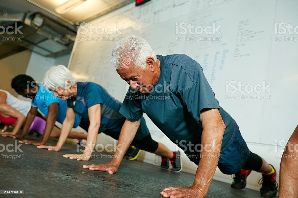 Don't let age stop you stock photo