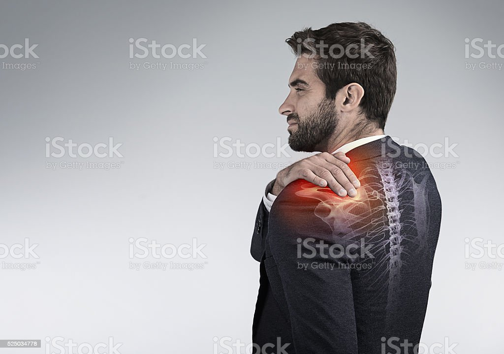 Don't let joint pain take away from your productivity stock photo