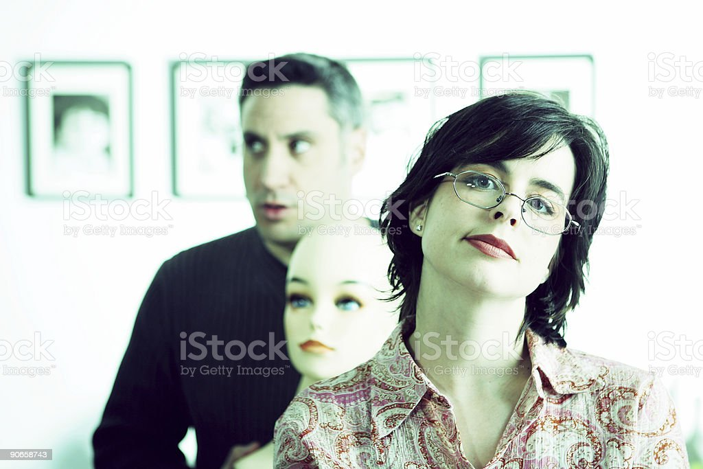 Don't let this DUMMY come between Us. royalty-free stock photo