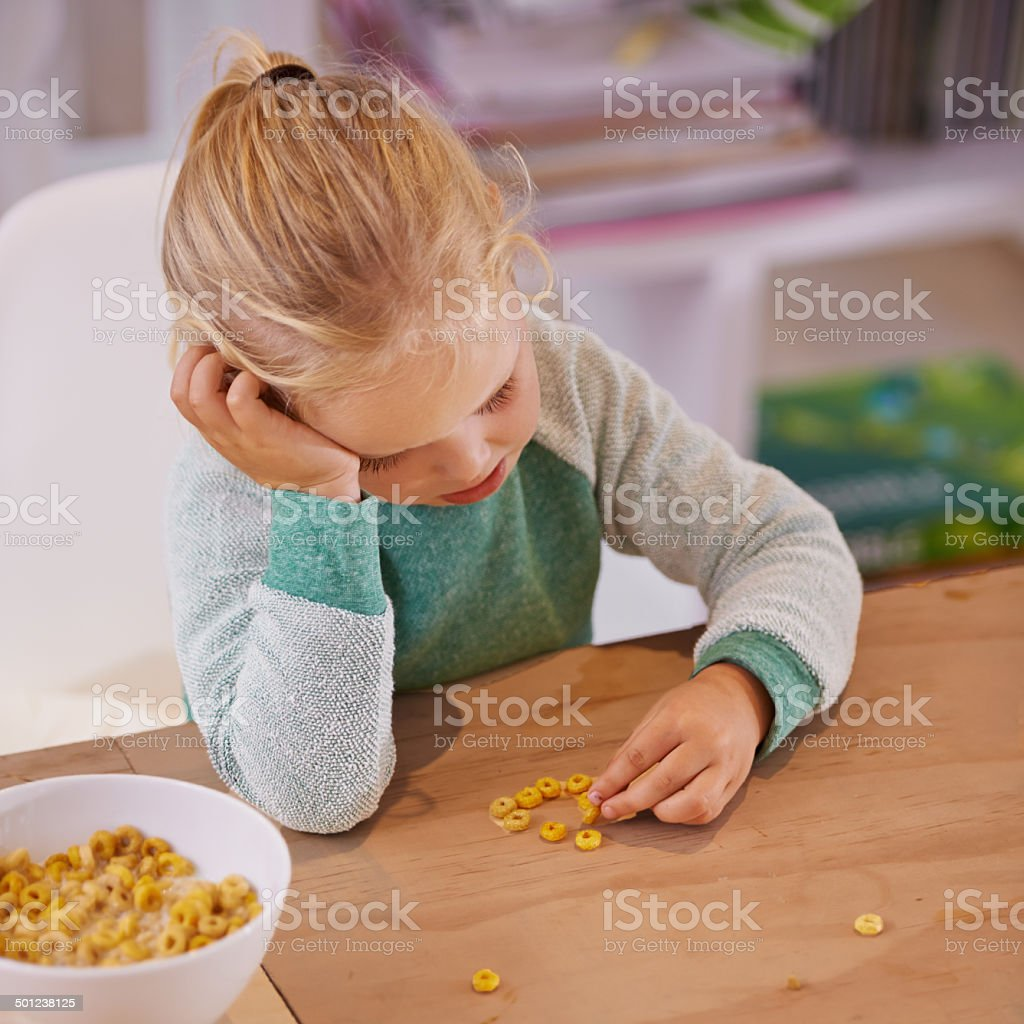 I don't like this cereal stock photo