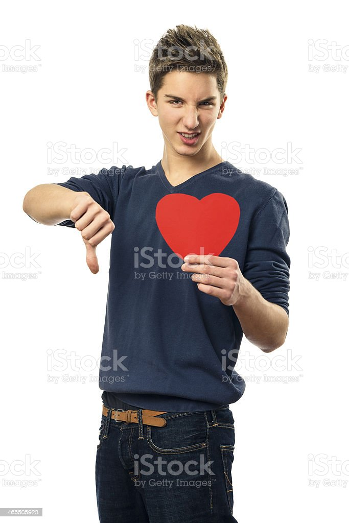 I don't like Valentine's Day royalty-free stock photo