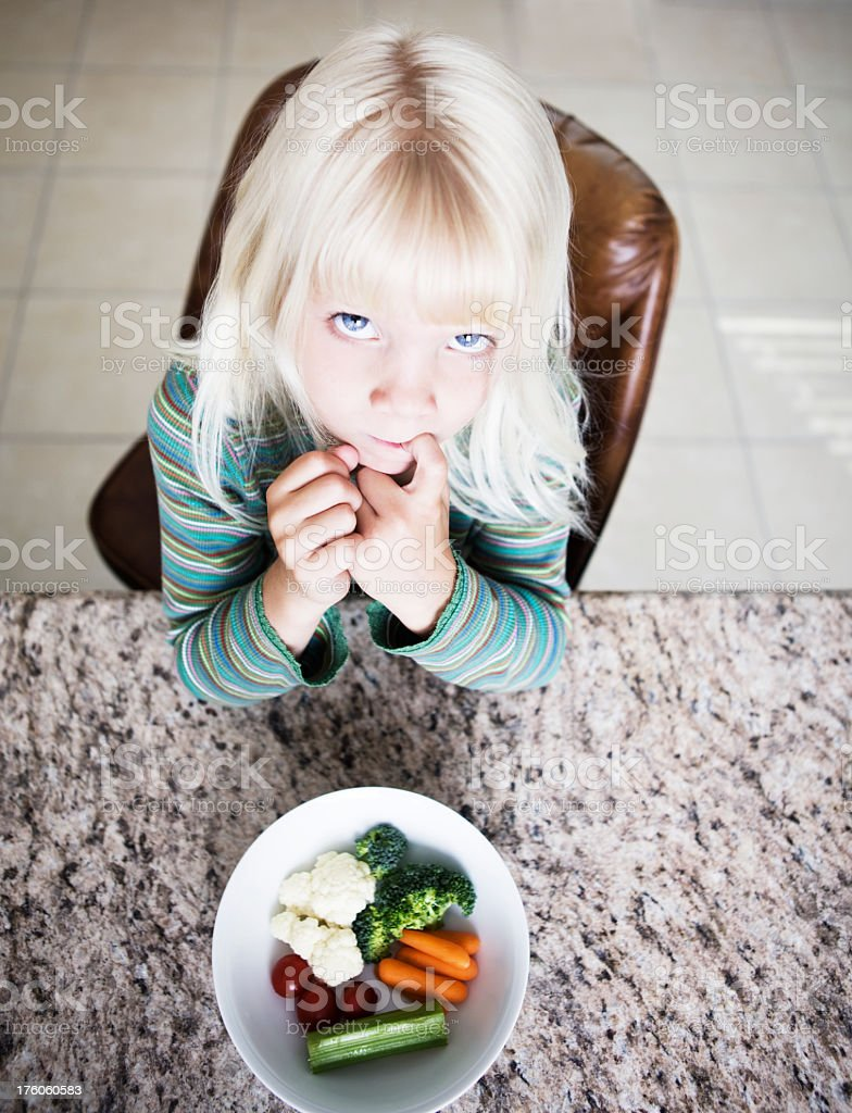 Dont Like Vegetables! royalty-free stock photo