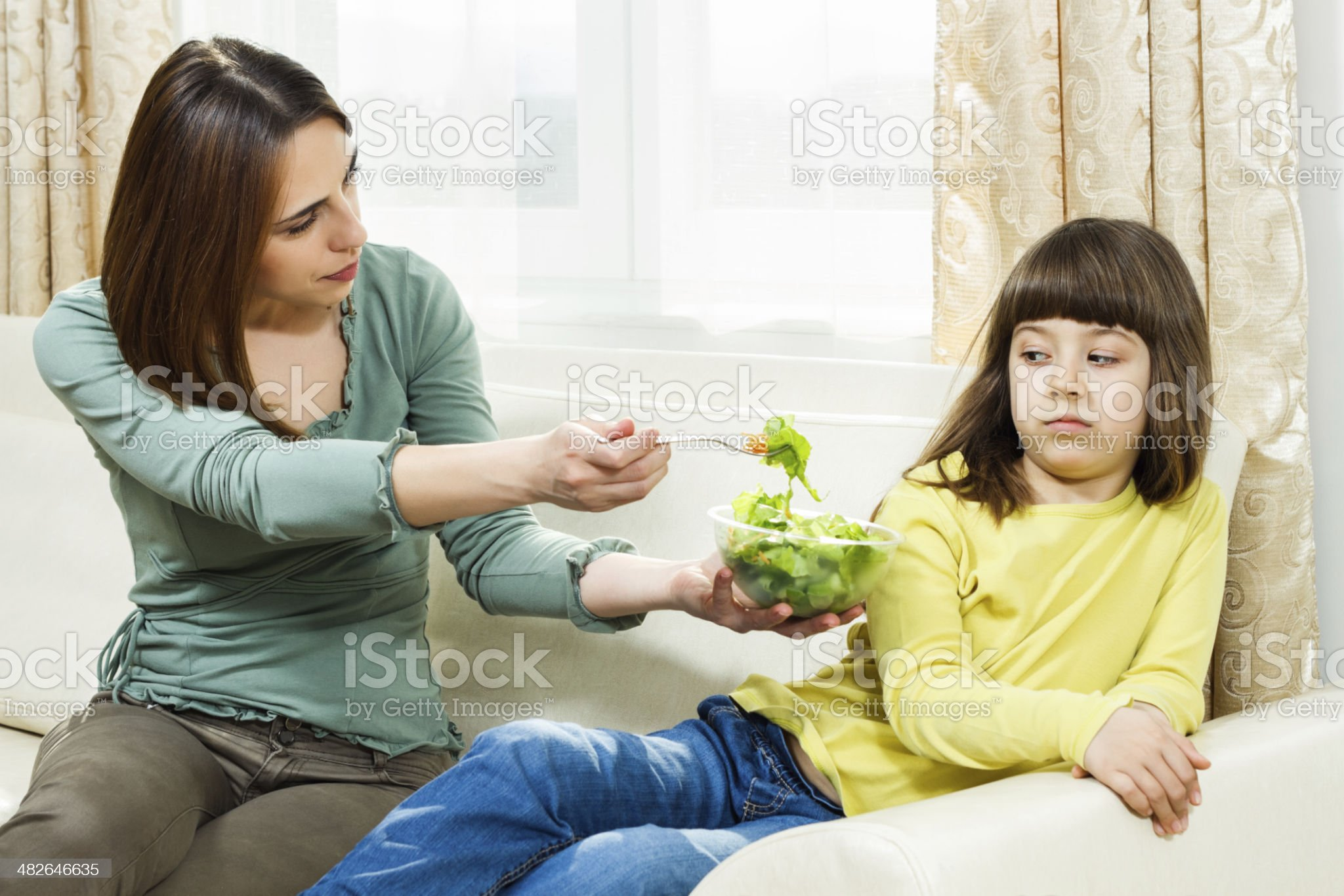 I don`t like vegetables! royalty-free stock photo