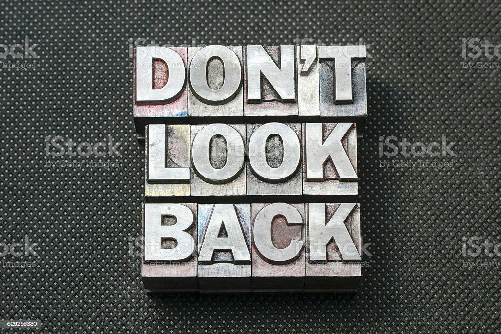 don't look back bm stock photo