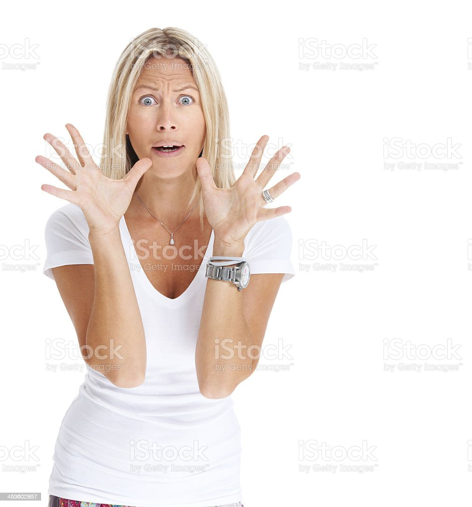 Don't look behind you... royalty-free stock photo