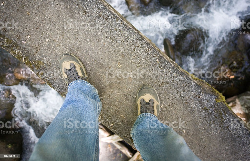 Don't look down! royalty-free stock photo